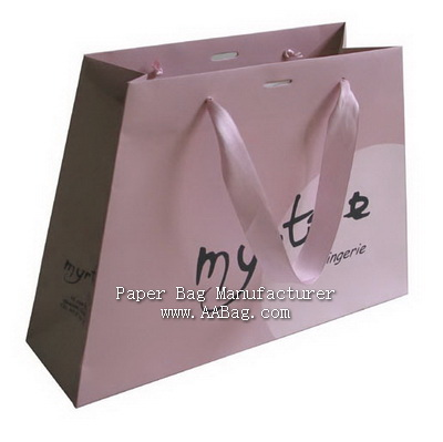 professional Custom  Elegant Paper Bags with your logo for lingierie Shopping