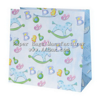 Unique Paper Bag for Baby Gift Shopping