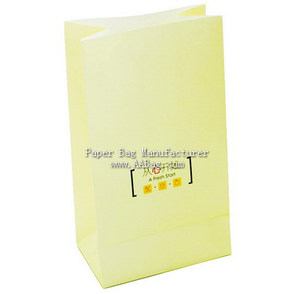Custom White Kraft Paper Bag without handle