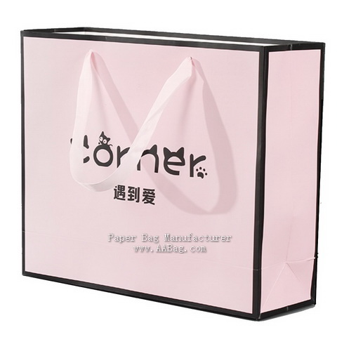 Custom Promotion Paper Bag for Clothing Brand