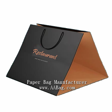 Customize Luxury Wide bottom take out bags with logo for Food delivery