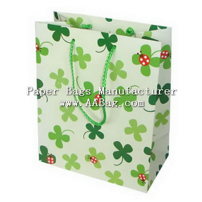 Cutom Printing Flower Paper Bag