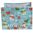 Custom Paper Bag with snowman theme for Happy New Year