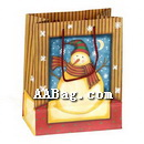 New Year Gift Bag with Snowman artwork