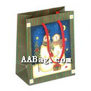 New Year Gift Bag with Snowman Theme