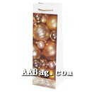 Wine Bottle Paper Bag with Custom Artwork for Happy New Year