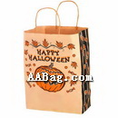 Customizable Natural kraft paper gift bag with Halloween Theme