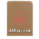 Brown Kraft Flat Paper Bag with logo,No Guesset,No Width Bottom
