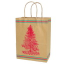 Brown Kraft Paper Shopping Bag for Christmas