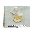 Cute Custom Paper Bag with 3D Bear for Baby clothing Shopping