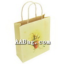 Custom white kraft Paper Bag with Twisted Paper Rope;Eco-friendly(small design)