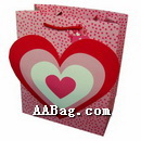 Custom Paper Wedding gift Bag with 3D Heart