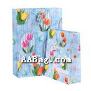 beautiful flower paper bags for shopping
