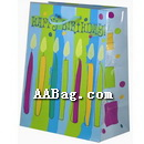 Custom Birthday Gift Bag with Candle