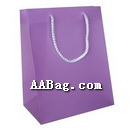 Plain Solid color printed Matte Lamination Bag with Rope Handle