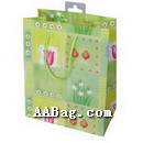 Paper Shopping Bag with Printed Flower