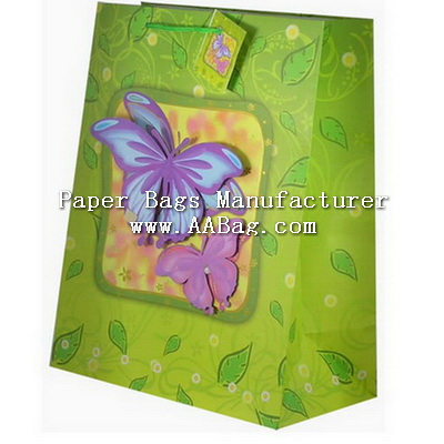 Custom Paper Bag with Popup design; third dimension