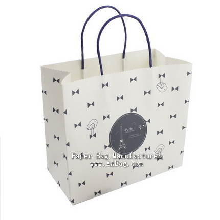 custom Promotional white Paper Bag for cake/food packaging
