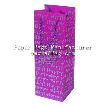 Paper bottle Paper Bag for Birthday