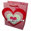 Custom Paper Gift Bag with 3D Heart Design