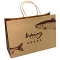 Custom Nature Kraft Paper Shopping Bag with Paper Handle