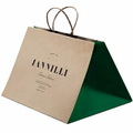 Custom Recycled Kraft Take Away Bags for Traditional Restaurant/Bakery /Food Store