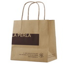 Custom Brown kraft Paper Bags with Twist Paper handle for food Packaging