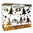 Luxury Gift Bag with Golden Christmas Design