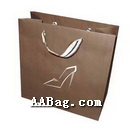 Brown Kraft Paper Bag with Custom Design for Shoe Box