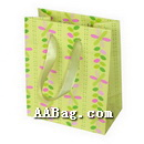 Colourful Gift Bag with Flower Artwork