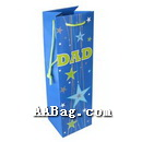 Paper Wine Bag with father Holiday Theme